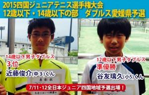 四国ジュニアテニス選手権大会ダブルス県予選男子